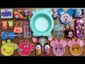 Peppa Pig And Mickey Mouse Slime Mixing Random Thing Into Clear Slime And Glossy Slime