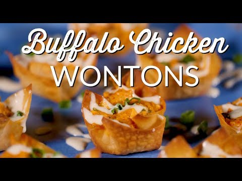Buffalo Chicken Wontons | Easy Recipes | Appetizers on the Grill