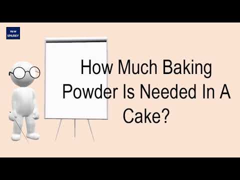 How Much Baking Powder Is Needed In A Cake?