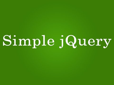simple jquery for beginners