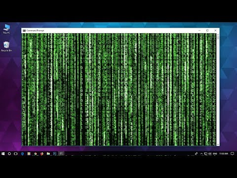 How to make MATRIX Effect on Windows 10 | Command Prompt