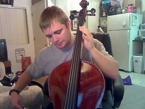 Cello practice first time!