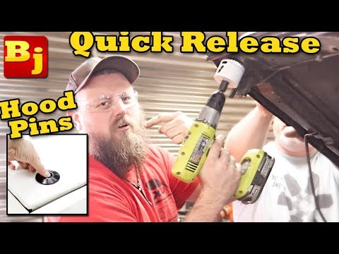 How To Install Flush Mount Quick Release Hood Pins