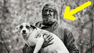 Man Who Lived In The Woods For 16 Years Finally Says Goodbye To His 31 Dogs