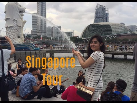 Visiting Singapore: Sightseeing Video |  Merlion park, Marina Bay Sands, Orchard Road and more