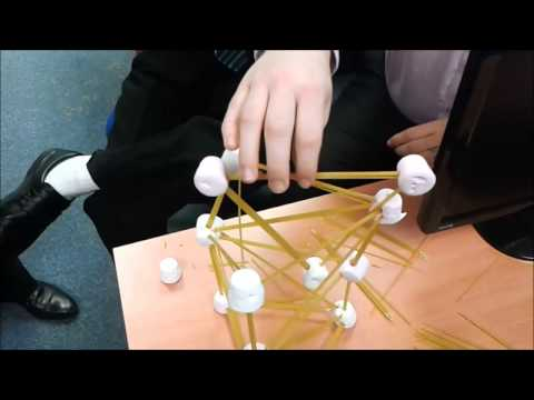 Spaghetti and marshmallow tower