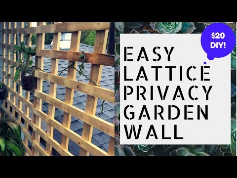 DIY EASY PORCH PRIVACY WALL WITH MASON JAR HERB GARDEN!