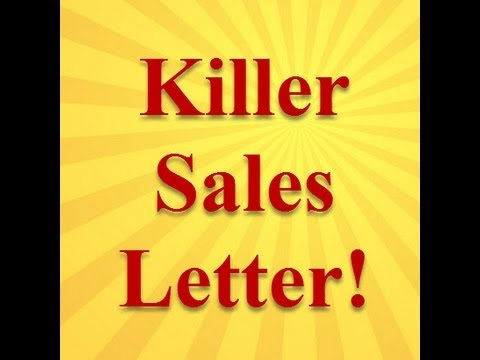 A Sales Letter For Prospecting and Lead Generation