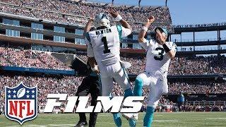 Cam Newton Takes Advantage of Patriots