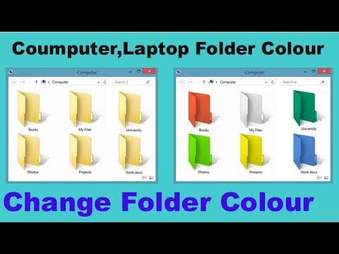 How to change a folder background icon with out any software windows 7 or 8 or 10 in Hindi