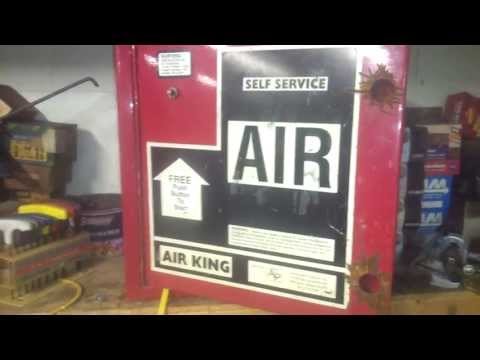 Inside Free Air Gas Station Air Compressor