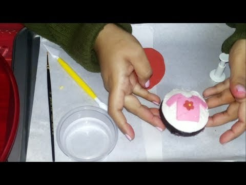 5. How to make Fondant Pink top Cupcakes for Baby Girls