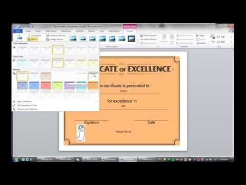 Lesson 2: Learning how to make Certificate  (MS Word 2010)