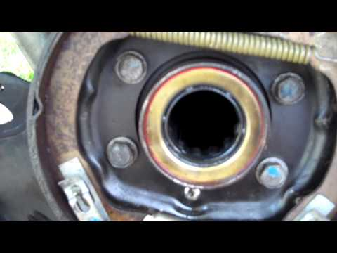 How to change a rear axle seal on a Ford 8.8 posi rear