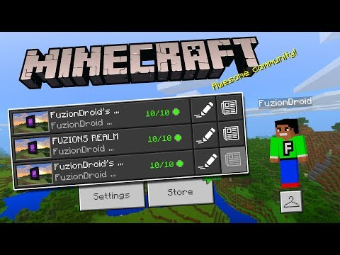 MCPE 1.3 BETA REALMS!!! - Minecraft Pocket Edition (JOIN MY REALMS)