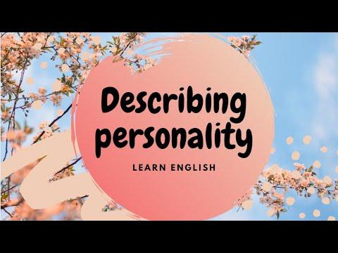 Describing Personality- Adjectives