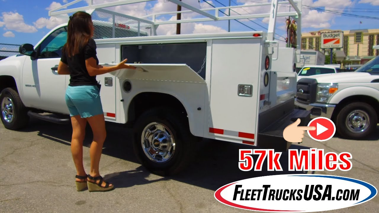2012 Chevy Silverado 57k Miles, Knapheide Utility Body Truck - FleetTrucksUSA.com