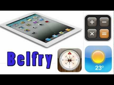 Belfry- Install iPhone Stock Apps on iPad 2 (Weather,Clock,Stocks,etc)