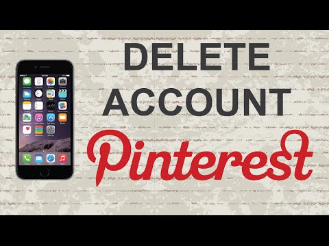 How to delete Pinterest account | Mobile App (Android / Iphone)
