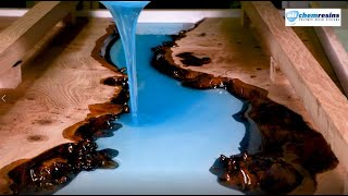 HOW TO MAKE A RESIN RIVER TABLE USING CLEAR EPOXY CASTING RESIN