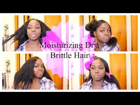Moisturizing Dry Brittle Damaged Hair| Relaxed Hair