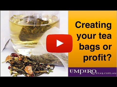 Creating your teabags or profit
