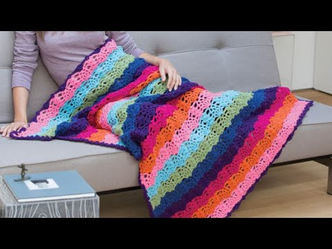 How to Crochet A Pineapple Stitch Afghan