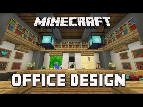 Minecraft Tutorial:  How To Build A Modern House  Ep.8  (Cool Office Furniture Design Ideas)