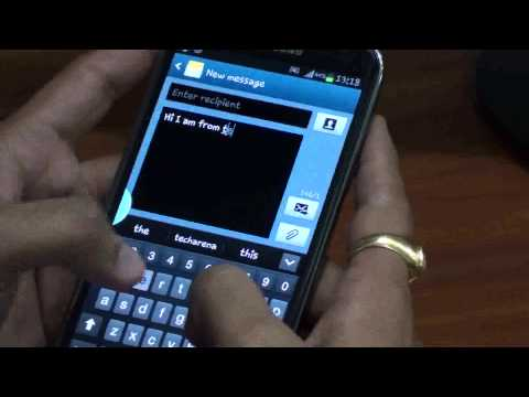 Enable Right or Left handed keyboard on Samsung Galaxy Note 2