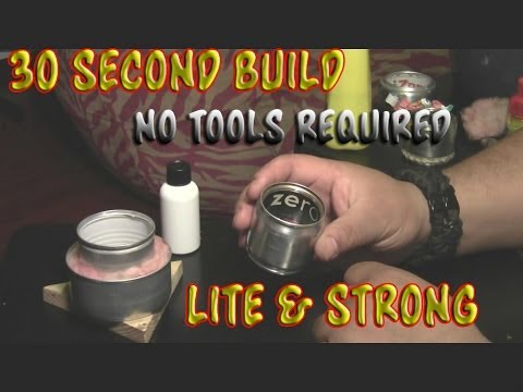Make An Alcohol Stove in 30 Seconds, No Tools Required (plus more stoves)