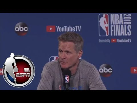 [FULL] Steve Kerr gives an update on Klay Thompson, work-life balance, and Game 2 | NBA on ESPN