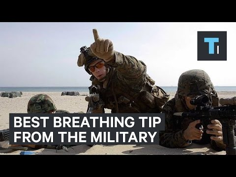 Soldiers use this breathing technique to stay calm