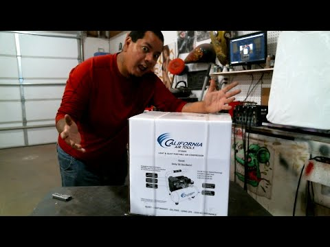 California Air Tools 1p1060s Compressor Unbox and Test
