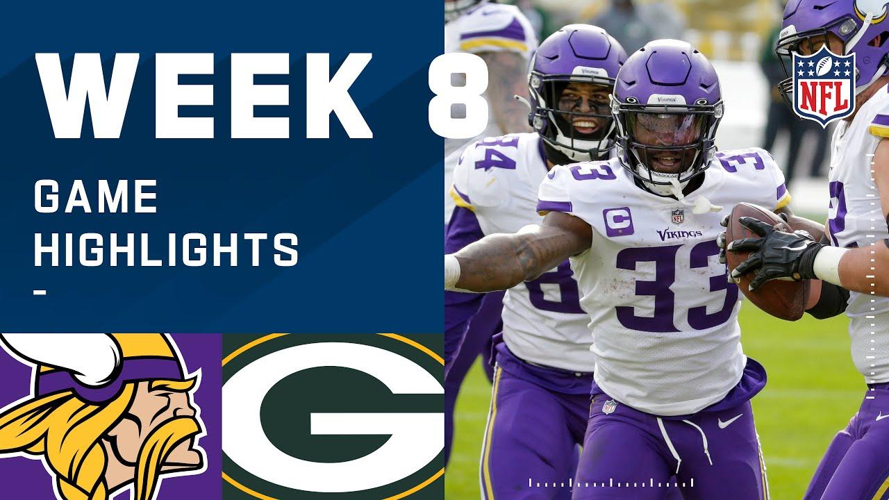 Vikings vs. Packers Week 8 Highlights | NFL 2020