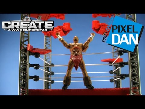 WWE Create-A-Superstar Ring Builder Set Mattel Video Review