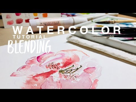How to Blend Watercolors & Loose Peony Floral Tutorial ~ WATERCOLOUR by Scarlett Damen