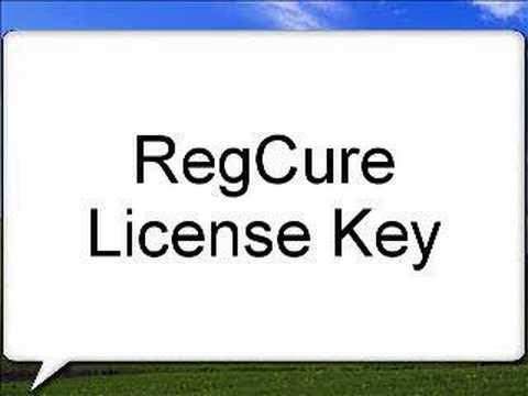 RegCure Lisense Key Windows Xp and Vista