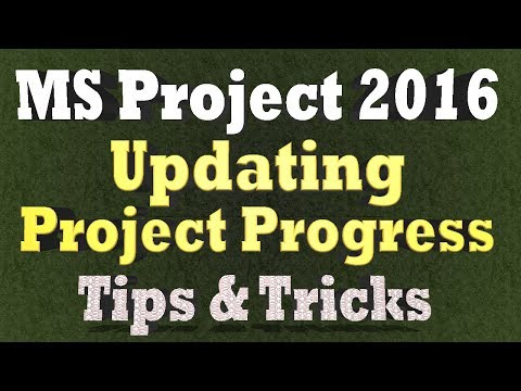 Ms Project Tips & Tricks 2018 - Update In-Progress Task Assignments in Microsoft Project