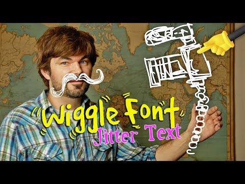Wiggle Font Jittery Text Effect! HOW TO - (Animation Creator App)! by Knoptop