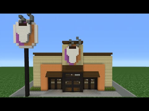 Minecraft Tutorial: How To Make A Dunkin' Donuts (Coffee Shop)
