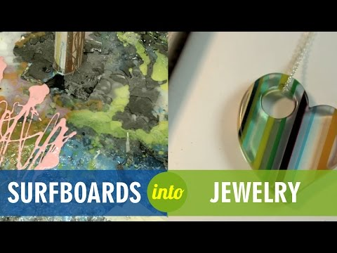 Upcycled Surfboard Resin into Jewelry