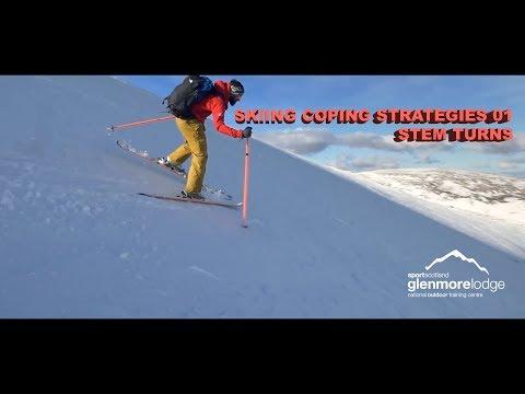 Skiing Coping Strategies 01 - Stem turns