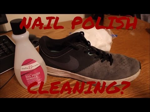 NAIL POLISH REMOVER CLEANING SHOES? SNEAKER EXPERIMENT #2!