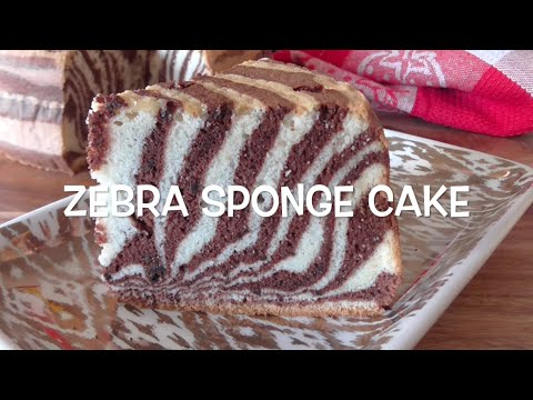 How to make Zebra Sponge Cake / Resep Bolu Zebra