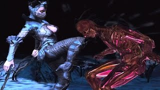 Mortal Kombat X (iOS) - Dark Empress Kitana Gameplay + X-Ray Move