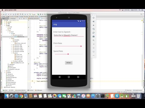 Learn to use Text To Speech Features on Android