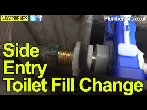 SIDE ENTRY FILL VALVE TOILET REPAIR and CHANGE - Plumbing Tips