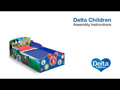 Delta Children Interactive Wood Toddler Bed Assembly Video