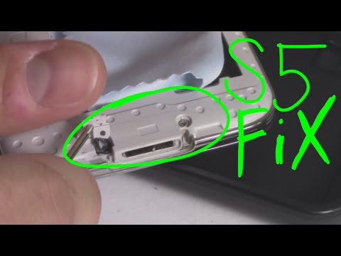 Fixing Samsung S5 charging power port cover guide