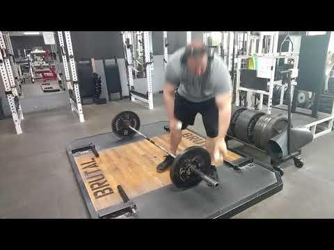 Brutal Iron Gym - Banded Deficit Deadlift Set Up